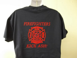 Firefighters Kick Ash Maltese Cross T-Shirt