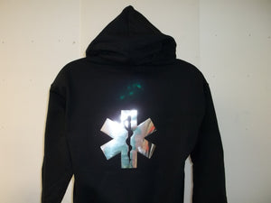 Metallic Star Of Life Hoodie Hooded Sweatshirt