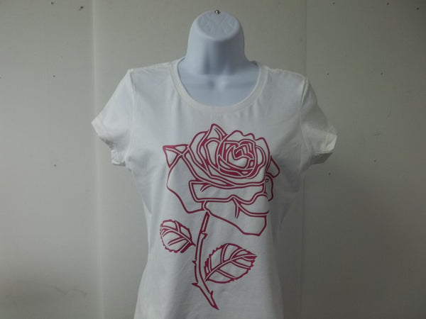 Beautiful Rose Girl Ladies T-Shirt