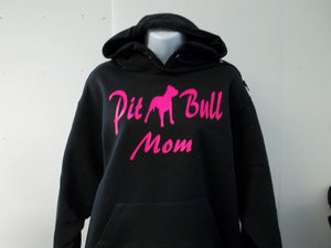 PitBull Mom Pullover Hooded Sweatshirt