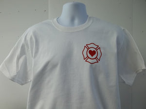 Property Of A Firefighter Maltese Cross T-Shirt