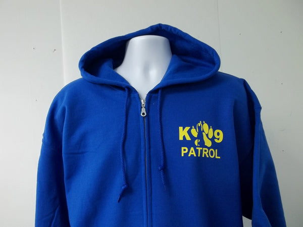 K-9 Patrol Logo Full Zip Hooded Ladies Sweatshirt Hoodie