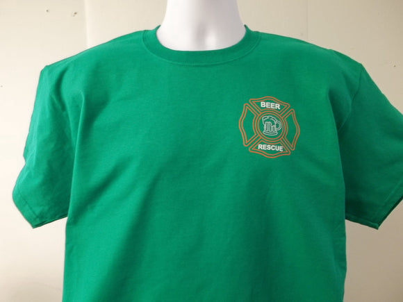 Irish St Patricks Day Parade Beer Rescue Style Maltese Cross Fire Rescue T-Shirt