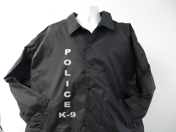 Custom Printed Police K-9 Unit Raid Style Jacket Your Choice Of Colors and Print