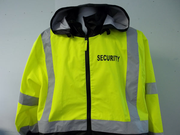 Reflective Security Raincoat Windbreaker Jacket