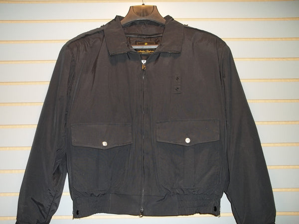 "Law Enforcement 26"" Waist Length Black Jacket with Zip-Out Liner"