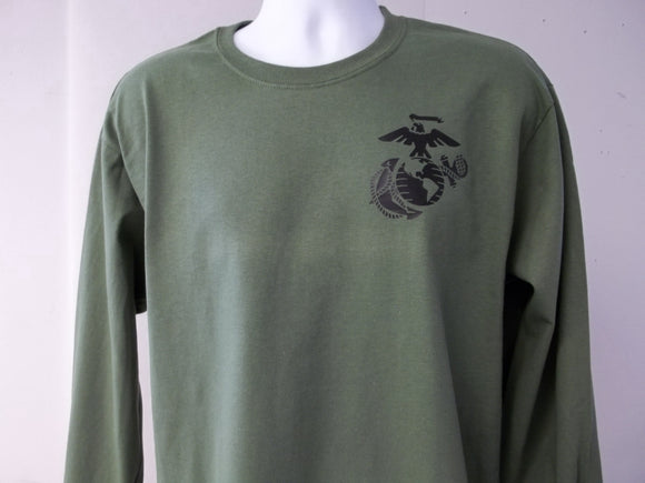 U.S.M.C Insignia Long Sleeve T-Shirt
