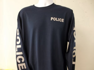 Police Reflective Long Sleeve T-Shirt Both Sleeves