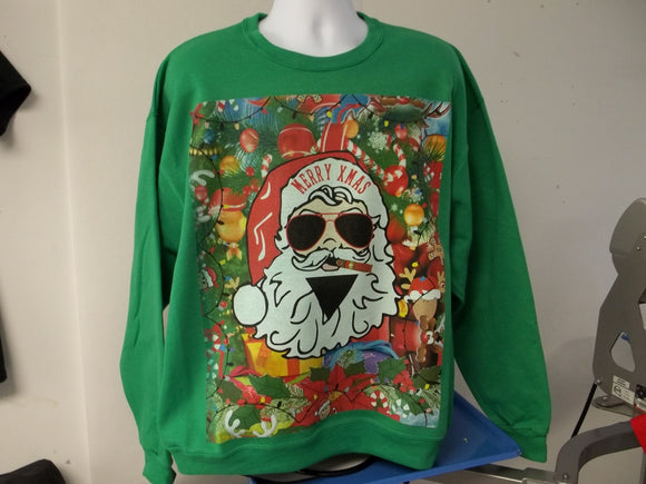 Custom Printed Ugly Christmas Sweater, AllTogether