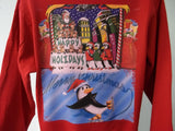 Custom Printed Ugly Christmas Party Sweater, Penguins, Santa Sack
