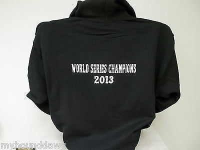 Womens 2013 World Series Champions Hoodie, Printed Hot Pink Front and Sleeves and White Back Print, Choice of Hoodie Color