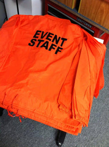 Event Staff Concert Nightclub Safety Orange Jacket