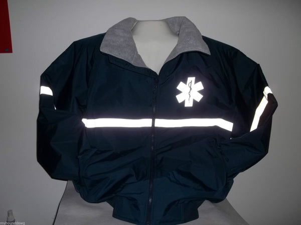 Reflective Star of Life Jacket, Black or Navy, Choose Your Prints