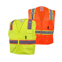 High Quality Class 2 Multi-Purpose Vest w/ 6 pockets