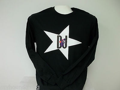 Star DJ Long Sleeve T-Shirt, Printed on Front, 3 Colors to Choose From