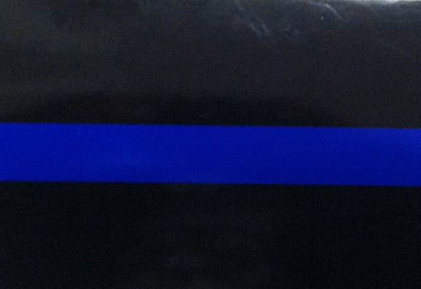 Police Blue Line 4 Inch Decal