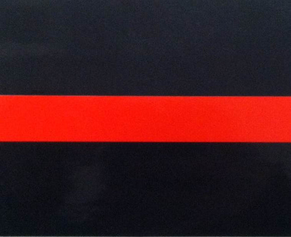 Firefighter Red Line 4 Inch Decal