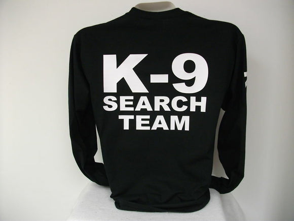 Search And Rescue L/S K9 T-Shirt, Search Team,,,,bk,,2X