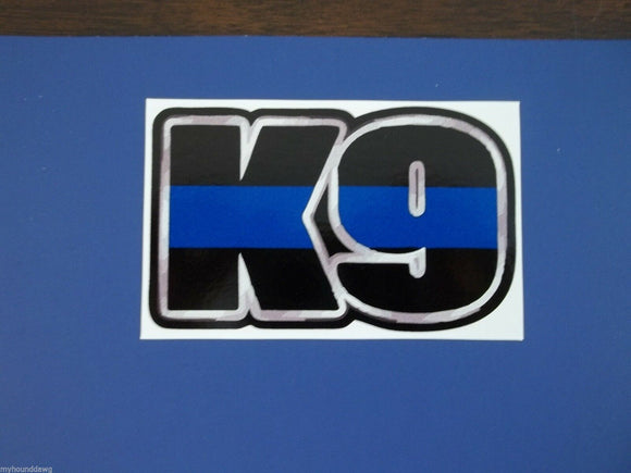 K9 Silver Blue Line Decal, Free Shipping, 3.50
