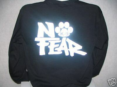 No Fear Reflective K-9 Long Sleeve T-Shirt, No Fear, 3X