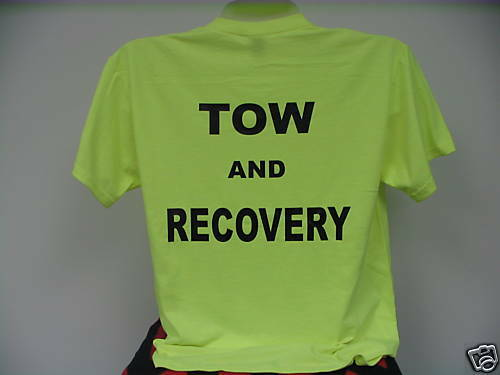 Tow & Recovery T-Shirt, Safety Green Tow & Recovery, LG