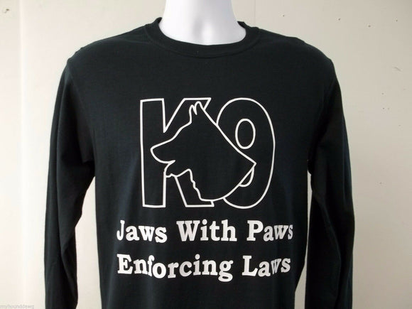 Jaws With Paws Enforcing Laws T-Shirt, K-9 Unit, K9, 3X