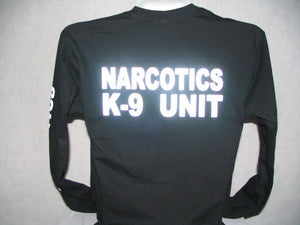 Reflective Narcotics K-9 Long Sleeve T-Shirt,K9 Unit LG