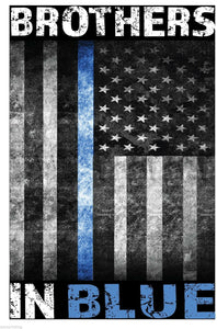 Brothers in Blue Line American Flag Sublimated T-Shirt