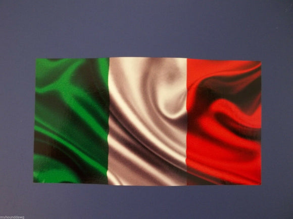 Italian Flag Waving Decal, 5.50