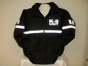 Reflective K-9 Jacket with Reflective Striping, All Weather Jacket, Size LARGE
