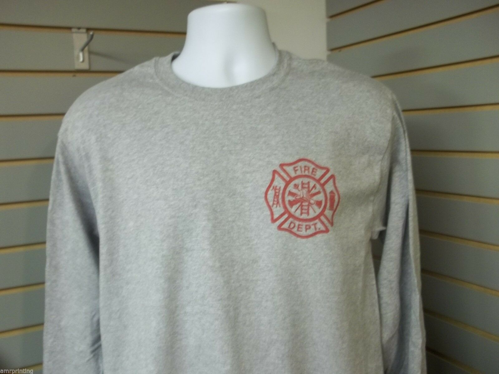 ed289939 ... Fire Department Maltese Cross Fire ladder hydrant Long Sleeve T-Shirt