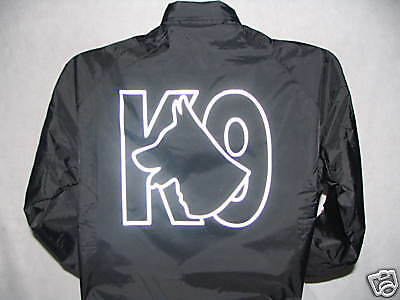 Reflective K-9 Raid Style Jacket, GSD Logo, K9, Great Call Out Jacke, Size XL