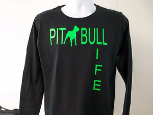 PitBull Life Love Womens Long Sleeve T-Shirt