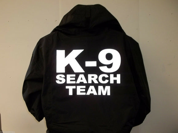Navy Blue 3 Systems Custom Reflective K-9 Unit Search Team Jacket, Size XS