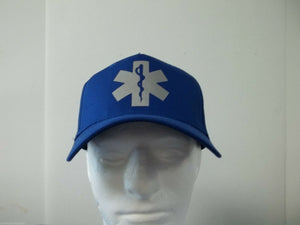 Reflective Star of Life EMT EMS Paramedic Hat Ballcap Your Choice of Colors