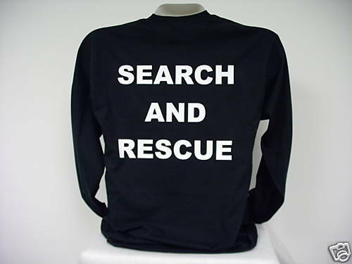 Search And Rescue L/S T-Shirt, SAR L/S T-Shirt,  bk  SM