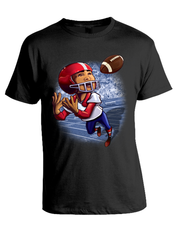 FootBall, Runningback, Catching Ball T-Shirt, (fb20054)
