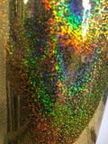 "Holographic Gold Glitter Adhesive Vinyl-Craft, Hobby, Cutters, 2 Pack, 12""x12"""