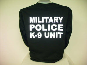 Reflective Military Police K-9 Unit, L/S T-Shirt,,,XXXL