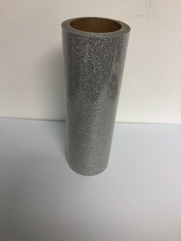 Silver, Glitter Flake HTV T-Shirt Iron On Heat Transfer Vinyl Sheets
