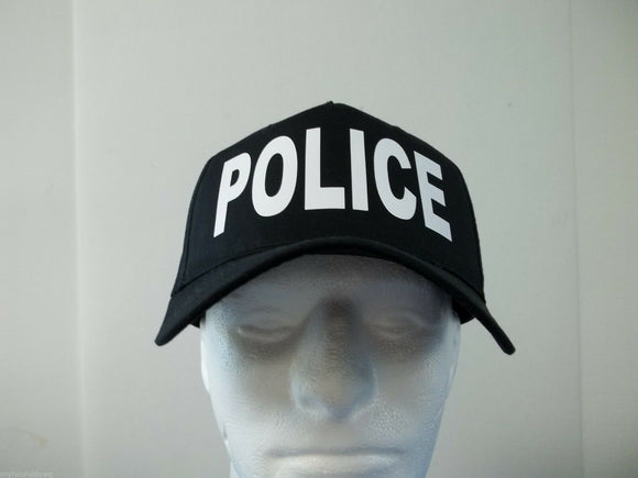Police 5-Panel Hat, Choose Your Color and Print Color, Free Shipping USA