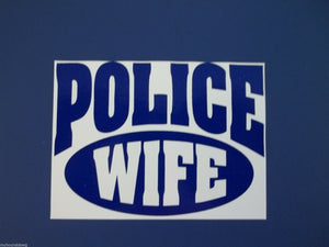 "LE Wife Decal, 3.5"" Free Shipping, Blue Line Decal"