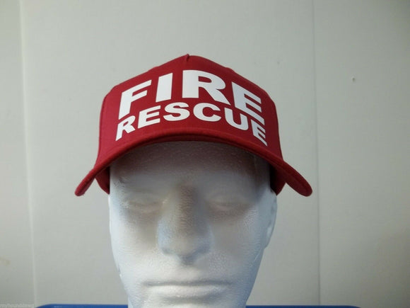Fire Rescue 5-Panel Hat, Choose Your Color and Print Color, Free Shipping USA