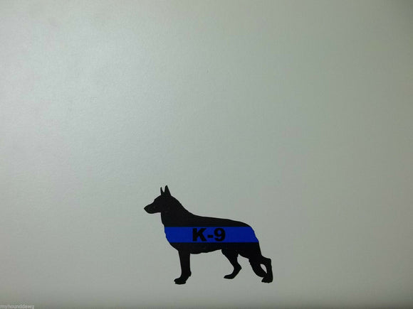 Blue Line K-9 Decal, GSD Blue Line Decal, 3.25