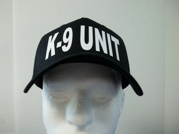 K-9 Unit 5-Panel Hat, Choose Your Color and Print Color, Free Shipping USA