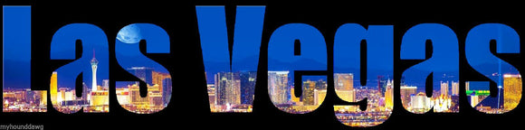 Custom Printed Skyline of Las Veags T-Shirt, Las Vegas Skyline