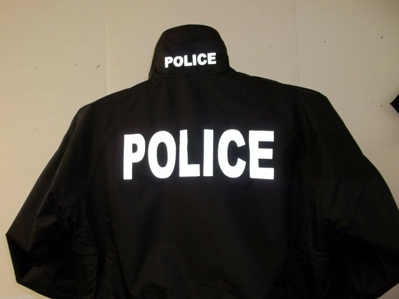 LAW ENFORCEMENT Light Weight Reflective Jacket, Your Choice of Prints & Colors