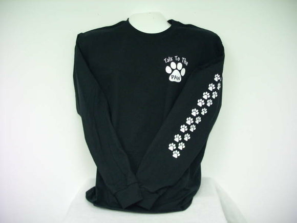 Talk To The Paw K-9 T-Shirt, Long Sleeve K-9 Shirt,,,2X