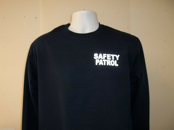 Reflective Safety Patrol Long Sleeve T-Shirt, Your Choice of Shirt Color
