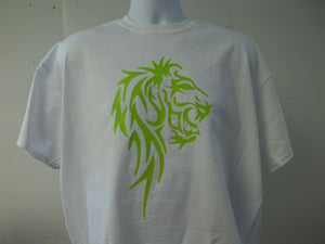 Lion Body Tribal Logo T-Shirt w Your Choice of Colors, Free Shipping in USA